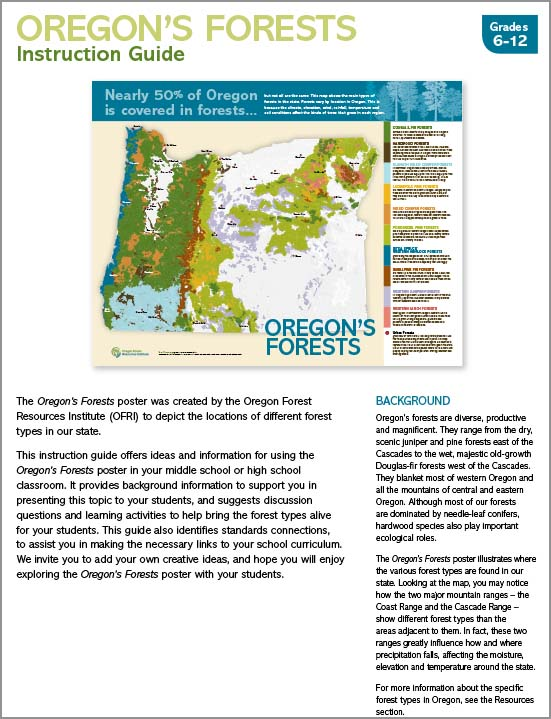 Oregon's Forests Instruction Guide-New